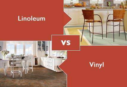 Vinyl vs linoleum